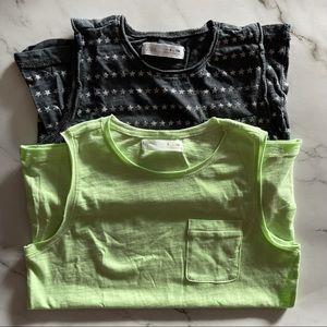 Zara boys bundle of 2 sleeveless tank tops size 9